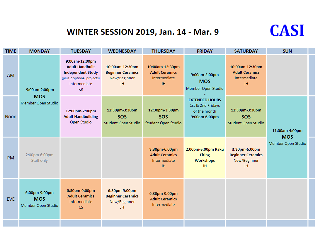 CASI 2019 Winter sched image